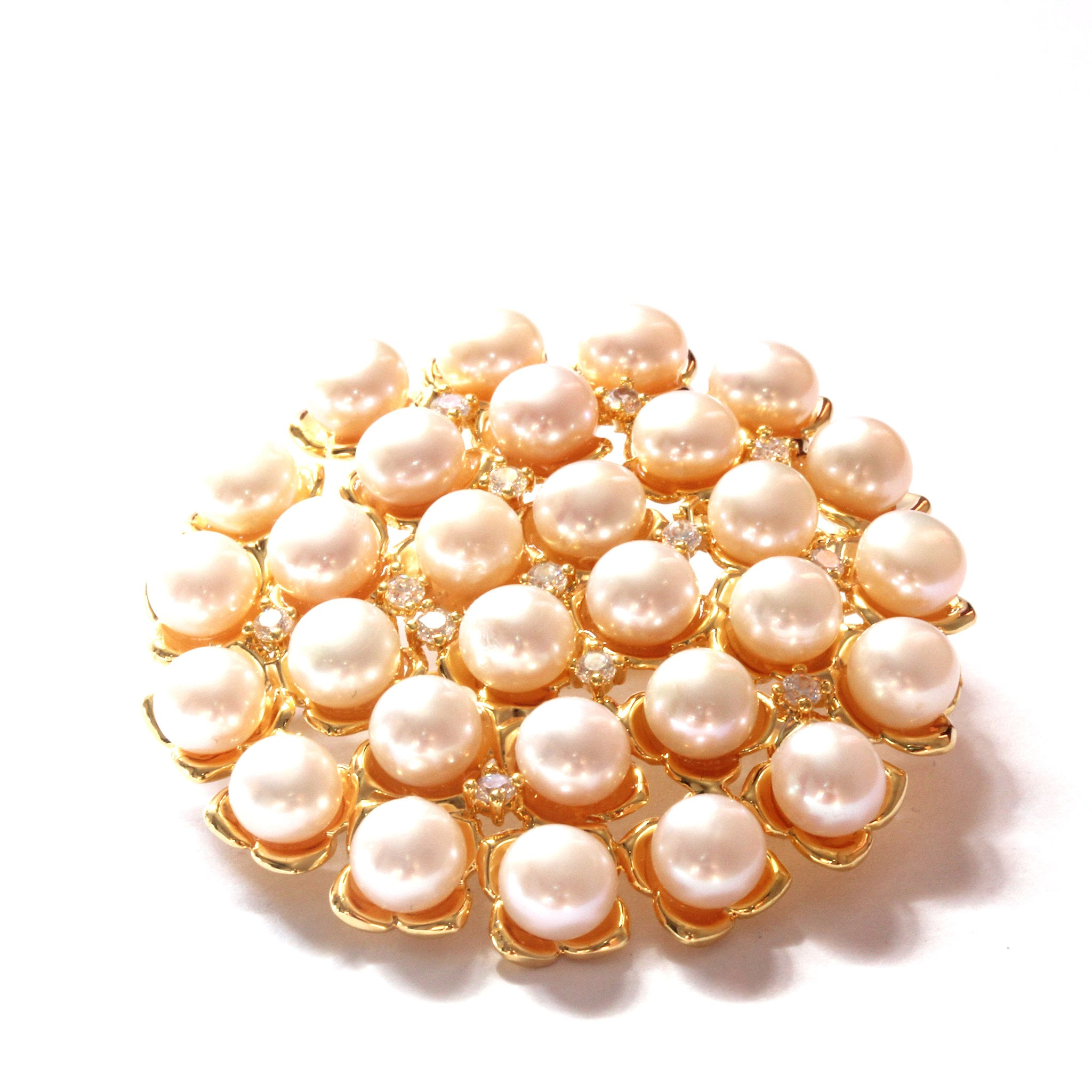 White Freshwater Cultured Pearl Brooch 5.5-6.0mm