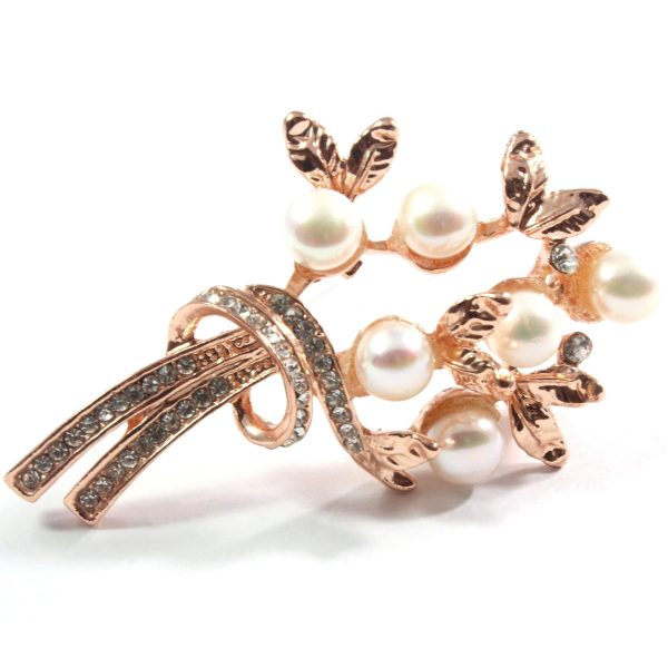 White Freshwater Cultured Pearl Brooch 7.5-8.0mm