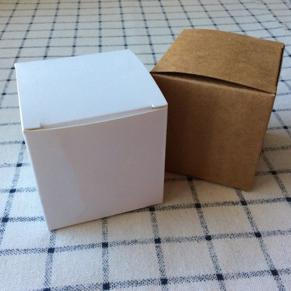 White Kraft Paper Boxes Wedding Party Favor Birthday Baby Shower Baptism Christening Gift Hand Made Product Packing Cake Box