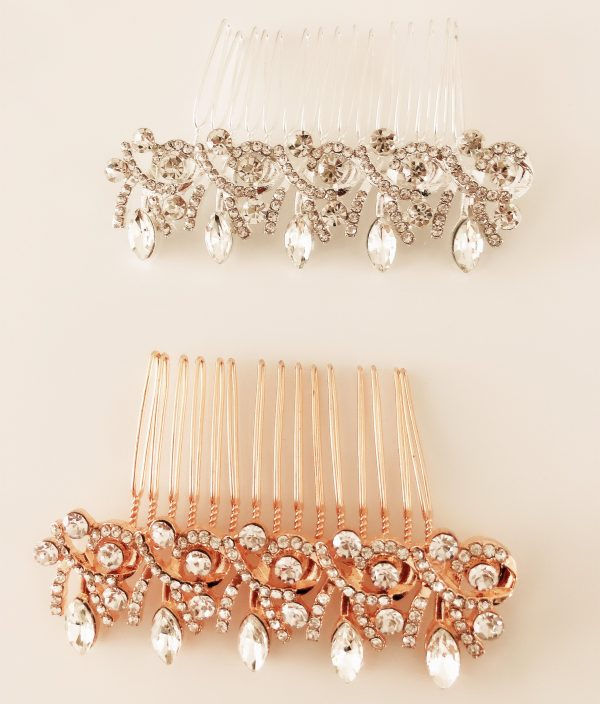 Women Lady Prom Party Bride Bridal Wedding Styling Crystal Bling Shine Headpiece Headwear Prop French Style Hair Comb Accessory