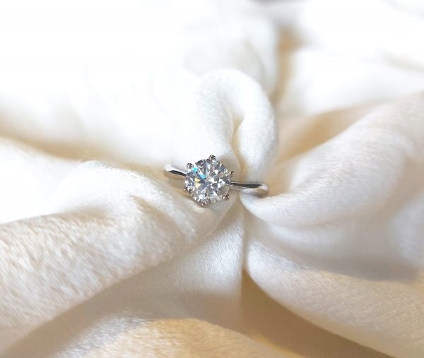 1Ct Moissanite Ring/925 Sterling Silver Ring/ Wedding Engagement Solitaire