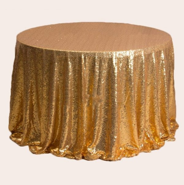 1Pcs Gold Glitter Sequin Tablecloth Wedding Engagement Anniversary Reception Ceremony Bouquet Christening Birthday Backdrop Chistmas Decor