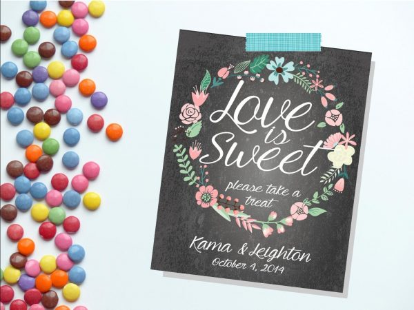 Candy Buffet Sign. Wedding Love Is Sweet. Printable