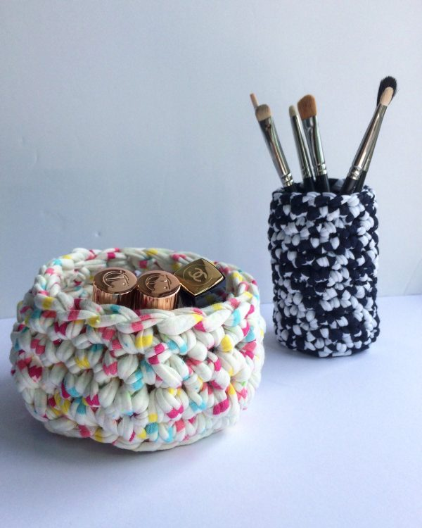 Crochet Bowl, Wedding Ring Dish, For Her Beauty Basket, Goodie Bag, Crocheted Jar Cover, Cozy, Mother's Day Gift, Home Decor