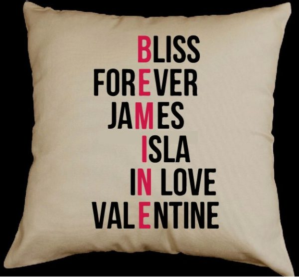 """Customise Your Own Valentines Day Pillow With Combination To Suit Loved One Or For Second Wedding Anniversary As Cotton."""""""