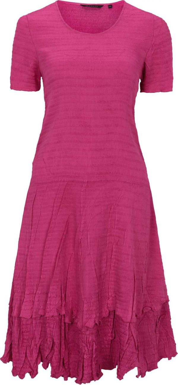 Fine Pleated Dress, Wedding Guest, Special Occasion, Easy Fit, Care, Pink