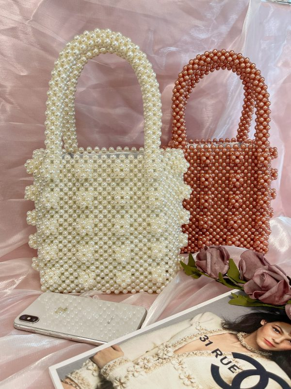 Handmade Pearl Hangbag/Clutch/Evening Bag High Quality & Luxury For Party/Wedding Mother's Day