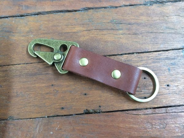 Leather Keychain, Personalised Keyring With Hk Style Clip, Great Gift For Him, Wedding Favours