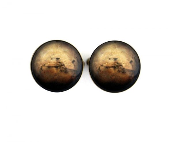 Mars Cuff Links - Galaxy Gifts For Dudes, Planet, Space Cufflinks, Science Wedding, Solar System, Fathers Day, Groomsmen