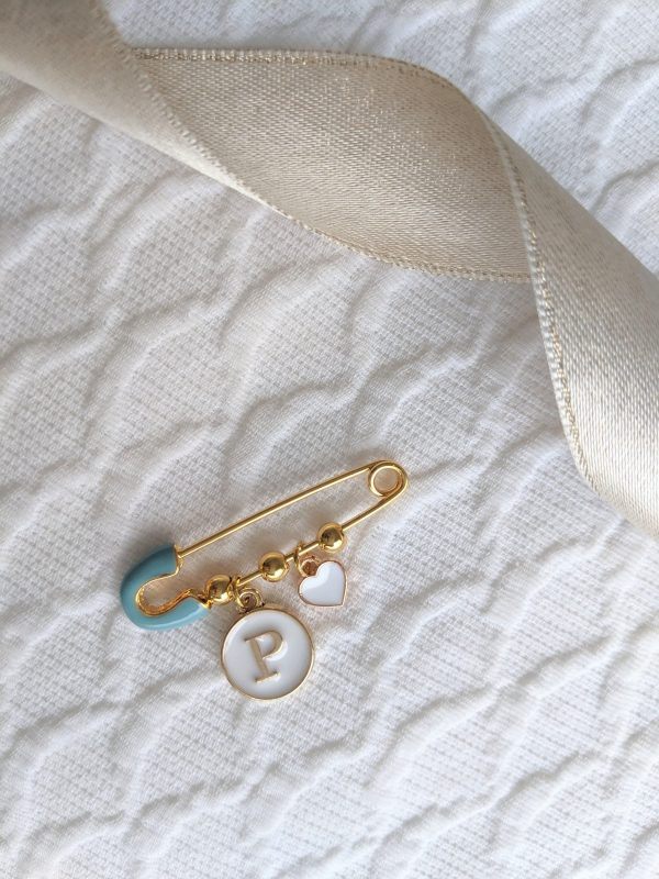 Personalized Bridal Pin | Baby Brooch Accessory Newborn Gift Shower Shell Box