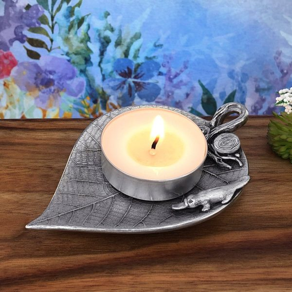 Platypus On Leaf Trinket Dish For Tea Lights, Wedding Rings, Jewellery, Candy & Bag Holder, Home Accessories