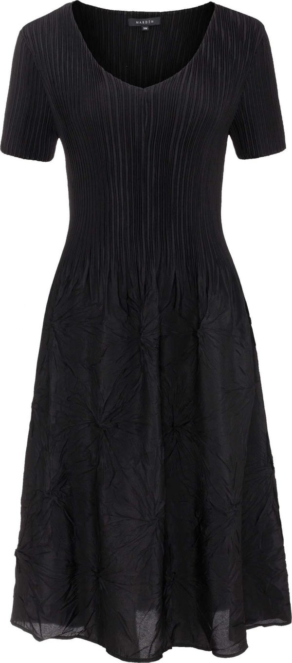 Shibori Pleated Dress, Wedding Guest, Special Occasion, Easy Fit, Care, Perfect lbd Last One