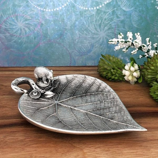 Wombat On Leaf Trinket Dish For Tea Lights, Wedding Rings, Jewellery, Candy & Bag Holder, Home Accessories