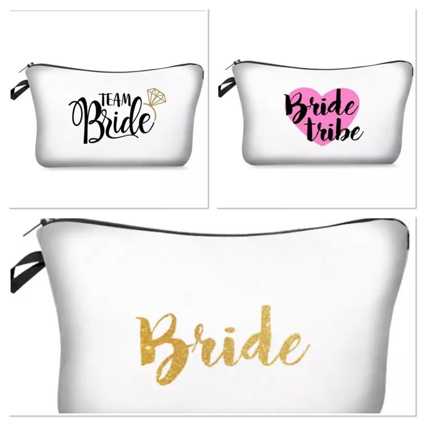 Bridal Party Favours - Cosmetic Bag Bride Tribe Gift Bride Makeup Bag Bridesmaid Gifts Proposal Boxes Wedding Items Kit