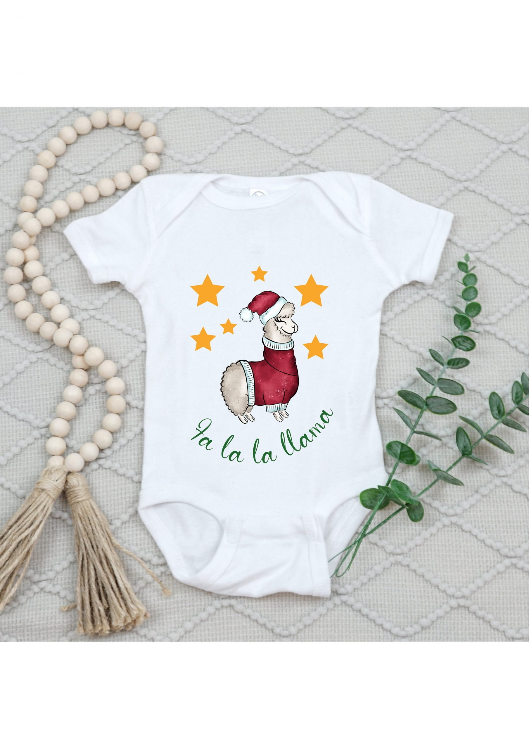 Llama Christmas Baby Onsie, New Gift, First Present, Funny Holidays Jumpsuit, Unisex Clothing For Kids, Cute Gift