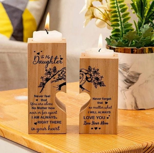 Mom To Daughter Pair Candle Holder Gift Mom For 2021 Xmas Birthday Wedding School College Graduation Christmas