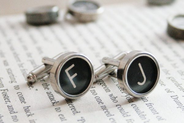 Personalised Cuff Links With Initials I Typewriter Keys Cufflinks Custom Letter Links For A Wedding