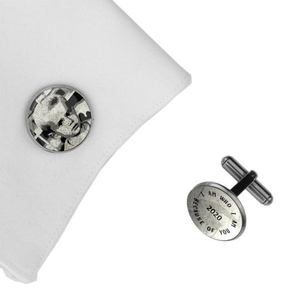 Personalized Cuff Links, Handwriting Cufflinks, Wedding Gift For Husband, Custom Father's Day Him, Photo, Drawing Spe