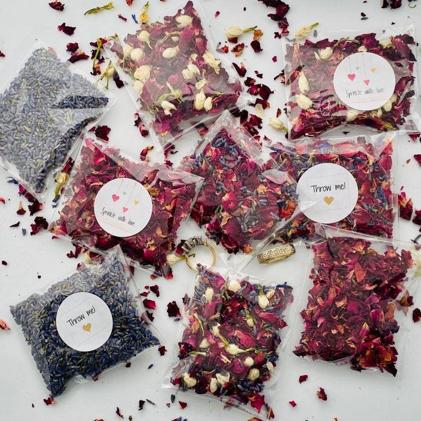 Throw Me Confetti/ Environmentally Friendly/ Biodegradable/Wedding Bags Of Flower Petals/Natural Dried Flowers /Sprinkle With Love