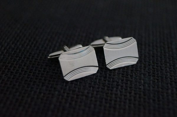 Vintage Cuff Links - Sterling Silver Cufflinks Gift For Groom Bridal Party Gift Wedding 1987