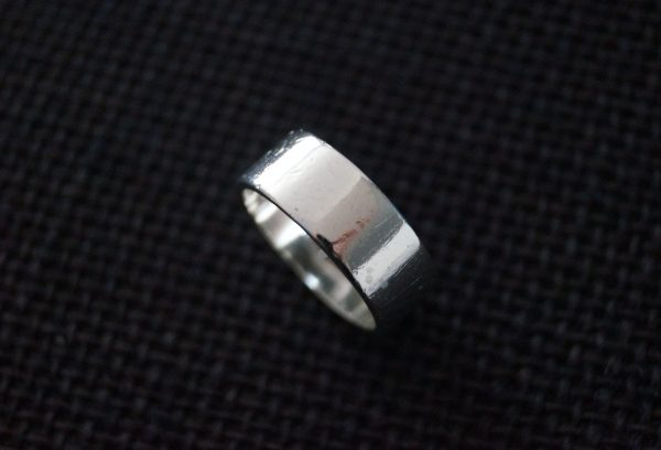 Vintage Sterling Silver Ring - Wedding Band 1995 Chunky Unisex 7 1/2 O