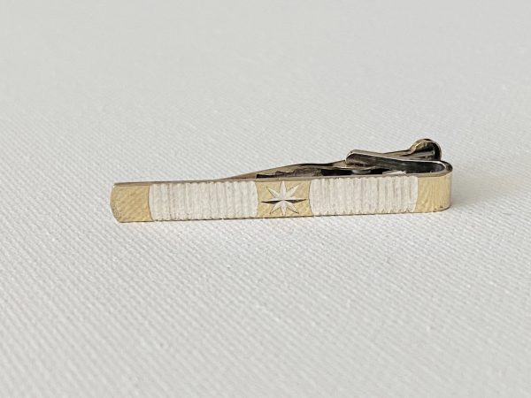 Vintage Sterling Silver Tie Clip - Pin Present For Groom Wedding